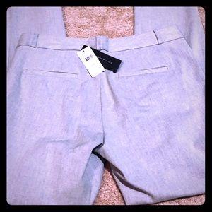 NWT BR Sloan gray slacks with belt loops